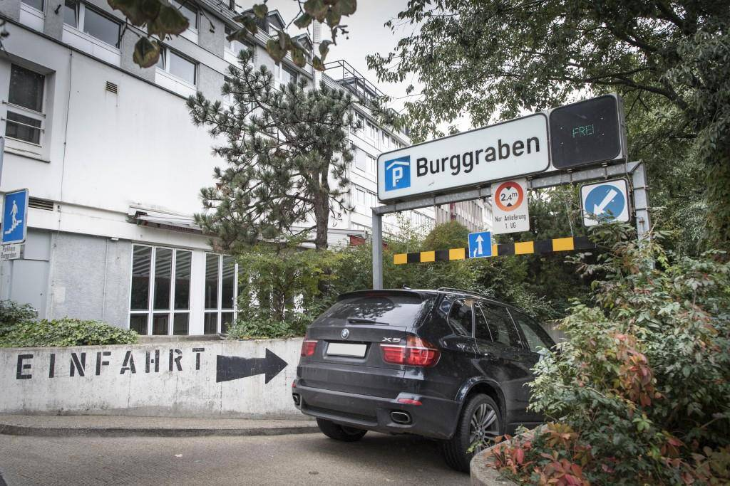 Die Burggraben-Garage (© Tagblatt / Ralph Ribi)