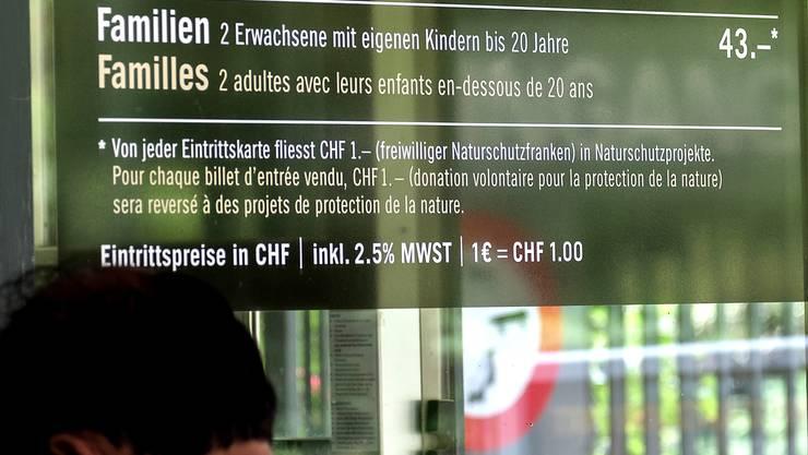 Trotz gestiegenem Euro: Der Zolli passt die Eintrittspreise nicht an.