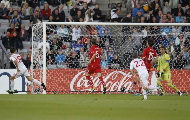 Der Stich ins Schweizer Herz: Spanien trifft zum 1:0