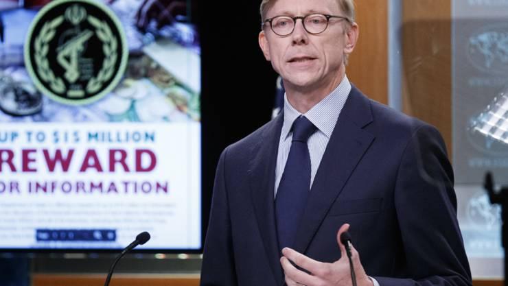 Der US-Sondergesandte für den Iran, Brian Hook, sagte in Washington, die Regierung werde ihren Kurs maximalen Drucks gegen den Iran fortsetzen.