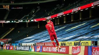 Cristiano Ronaldo überzeugt auch vor leeren Rängen. Gegen Schweden bejubelt er seinen 100. Treffer im Trikot des portugiesischen Nationalteams