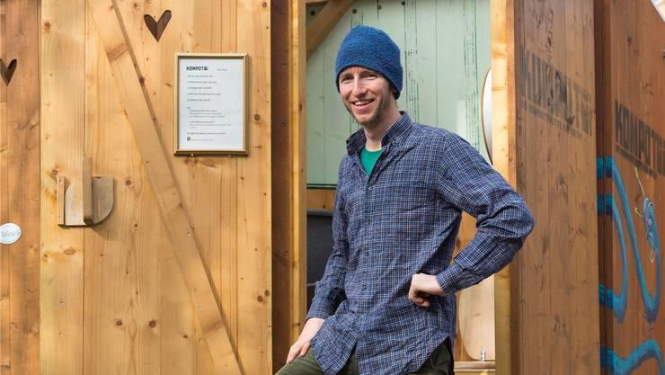 Jojo Linder hat mit Kompotoi Fuss gefasst. Er produziert Toiletten.
