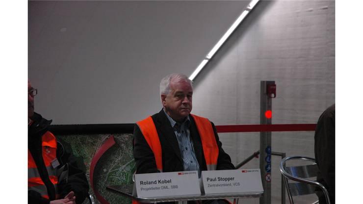 """Paul Stopper (VCS), einer der """"Väter"""" des Bahnhofs Löwenstrasse."""