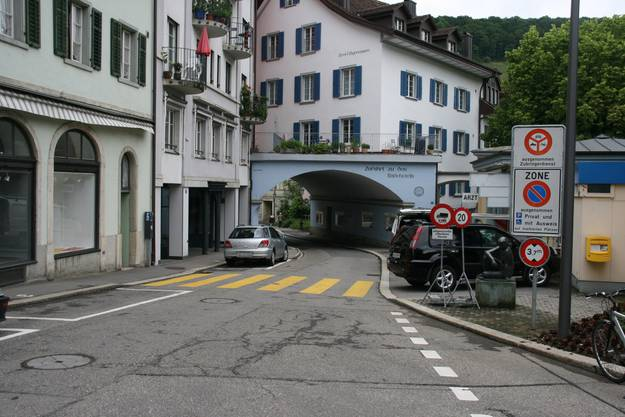 Bäderstrasse bei der Schiefen Brücke