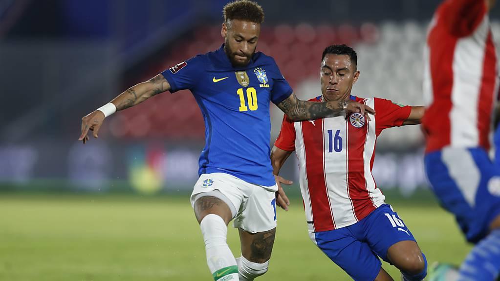 Brasiliens Superstar Neymar war beim 2:0-Sieg in Paraguay an beiden Toren beteiligt
