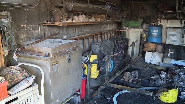 Garagenbrand in Niederbuchsiten