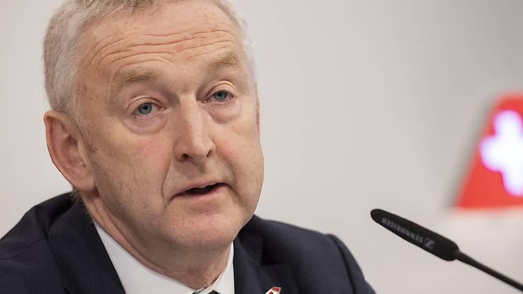 Swiss-CEO Thomas Klühr hofft wegen der Corona-Krise auf Staatshilfe für seine Airline. (Archivbild)