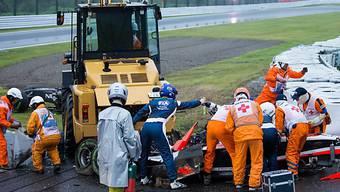 Oktober 2014: Unfall von Jules Bianchi in Japan