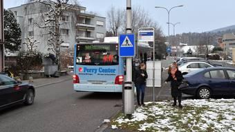 Provisorische Bushaltestellen auf der Linie 503 in Olten