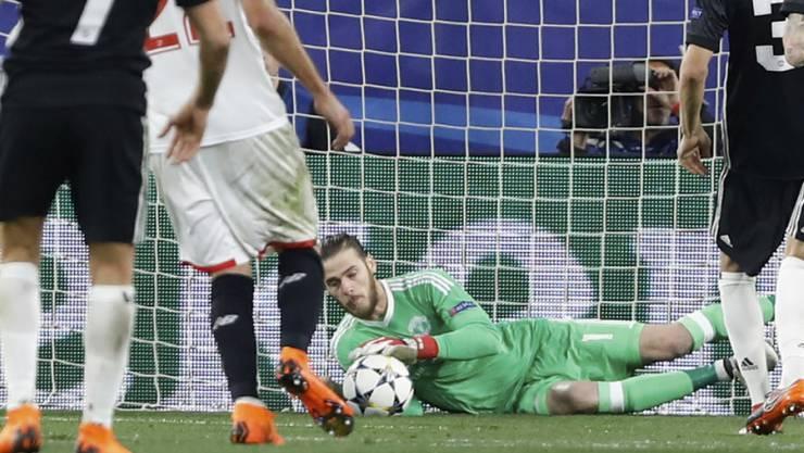 Manchester Uniteds De Gea hielt, was es zu halten gab
