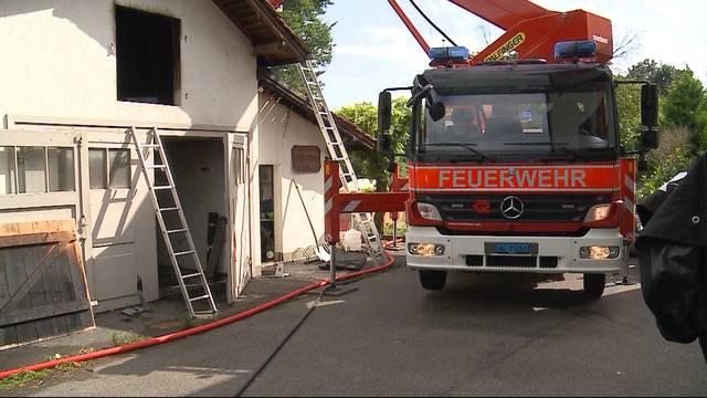 Garagenbrand in Vordemwald