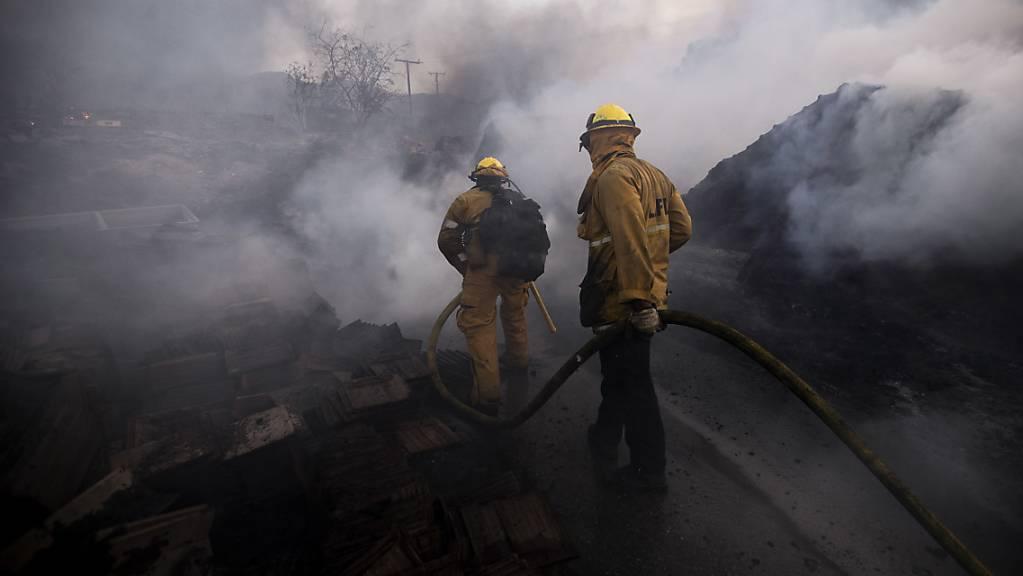Wegen eines Waldbrandes müssen in Kalifornien zahlreiche Menschen ihre Häuser verlassen.