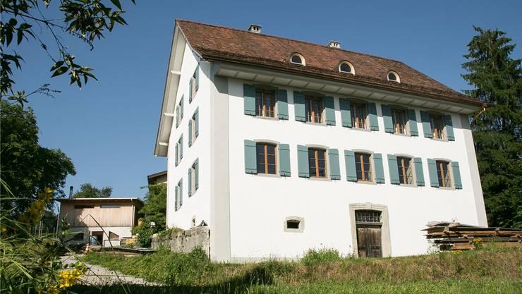 Die Aussensanierung des historischen Seckelmeisterhauses an der Steingasse 47 in Wohlen ist weitgehend abgeschlossen. zvg