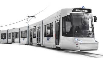"""Die AVA hat sich für acht moderne Niederflurfahrzeuge des Typs """"Tramlink"""" entschieden."""