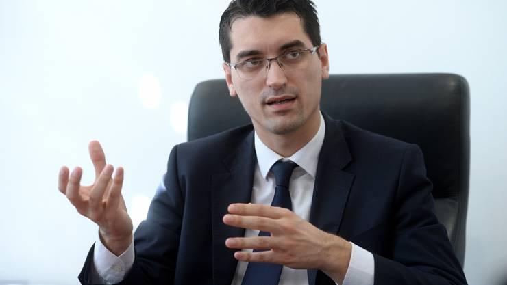 Razvan Burleanu: Mit 29 Jahren nicht Fussball-Star, sondern rumänischer Verbandspräsident.