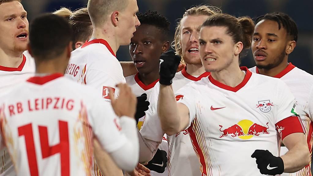 Bereit für das Spitzenduell mit den Bayern? Leipzig feiert gegen Arminia Bielefeld einen zu knappen 1:0-Sieg
