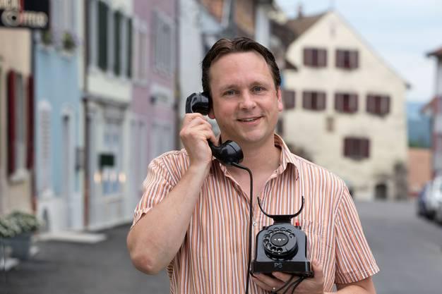 Philipp Zimmermann vertrat Klingnau als Telefonjasser.