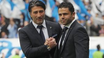 FCB-Coach Murat Yakin und GC-Trainer Uli Forte: Heute treffen sie sich wieder.