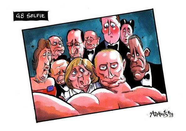 So könnte das G8-Selfie aussehen.