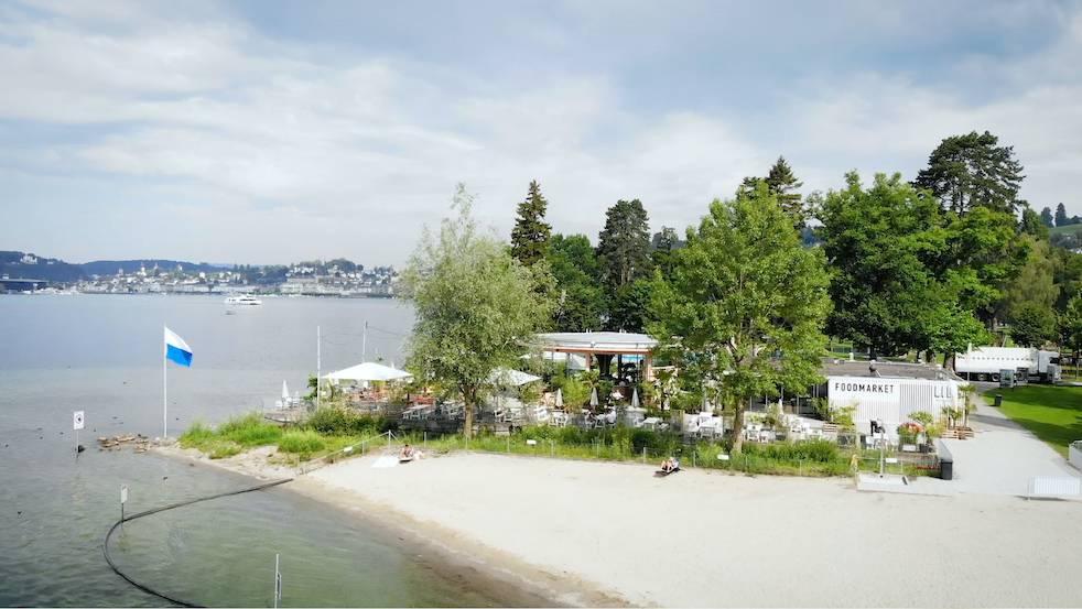 Das Beach House im Lido wird für vier Wochen zum Biergarten.