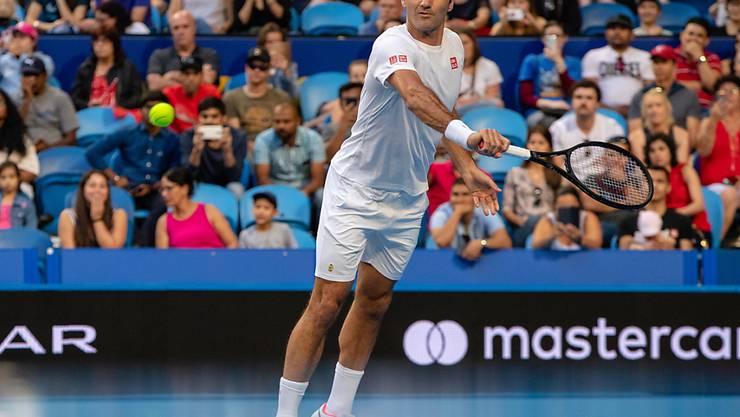 Für Roger Federer begann die neue Saison am Hopman Cup in Perth mit einem Sieg