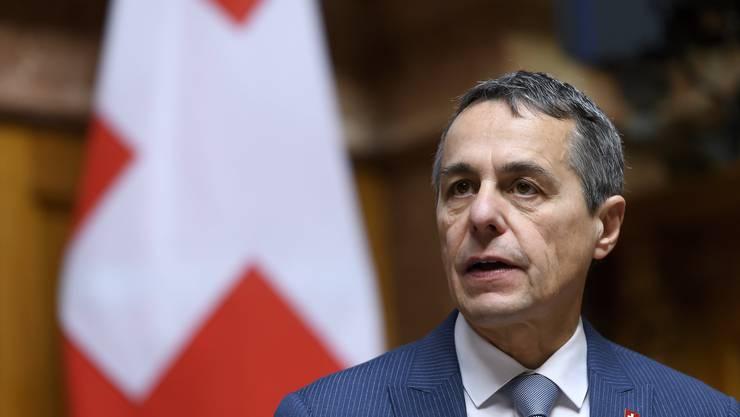 Aussenminister Ignazio Cassis informierte seinen österreichischen Amtskollegen über das Europadossier.