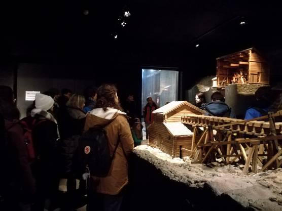 Modelle des Kupferabbaus im alten Schmelzwerk in Røros.
