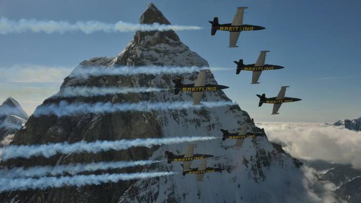 Breitling-Flieger in Aktion.