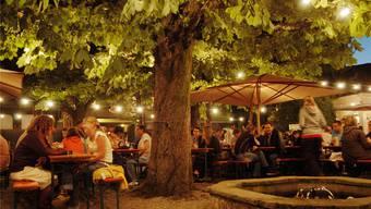 Der Biergarten in Baden bietet im Sommer einmal im Monat auch einen Sonntagsbrunch an.