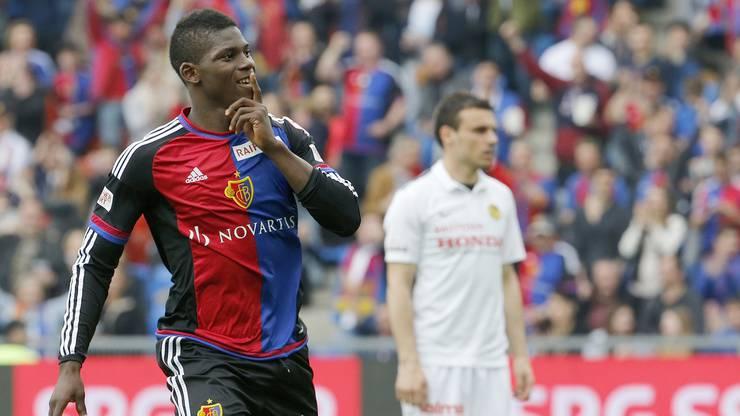 Embolo bringt Basel 1:0 in Führung.