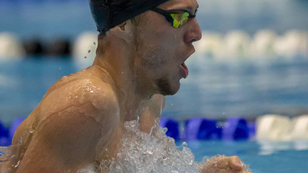 Jeremy Desplanches (im Bild) und viel versprechender Nachwuchs beleben den Schweizer Schwimmsport