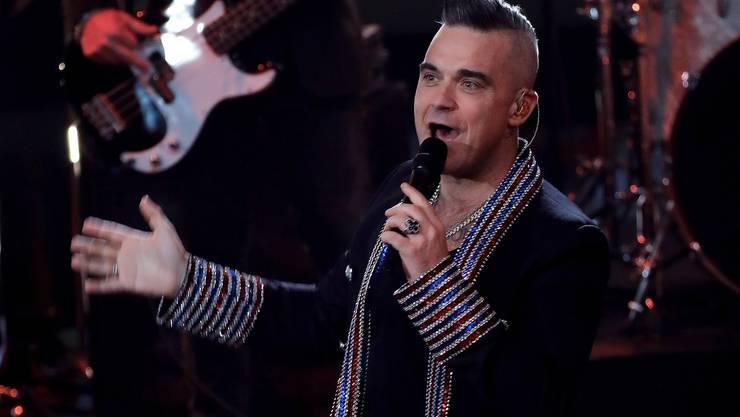 Robbie Williams bei einer Gala-Show in Berlin am 7. Dezember.
