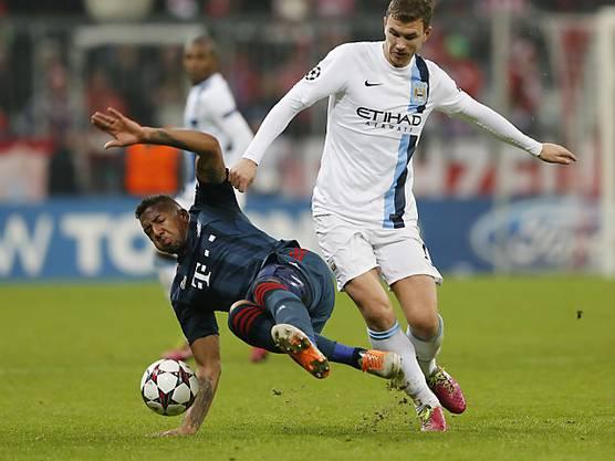 Bayern (Boateng) strauchelte gegen Manchester City (Dzeko)