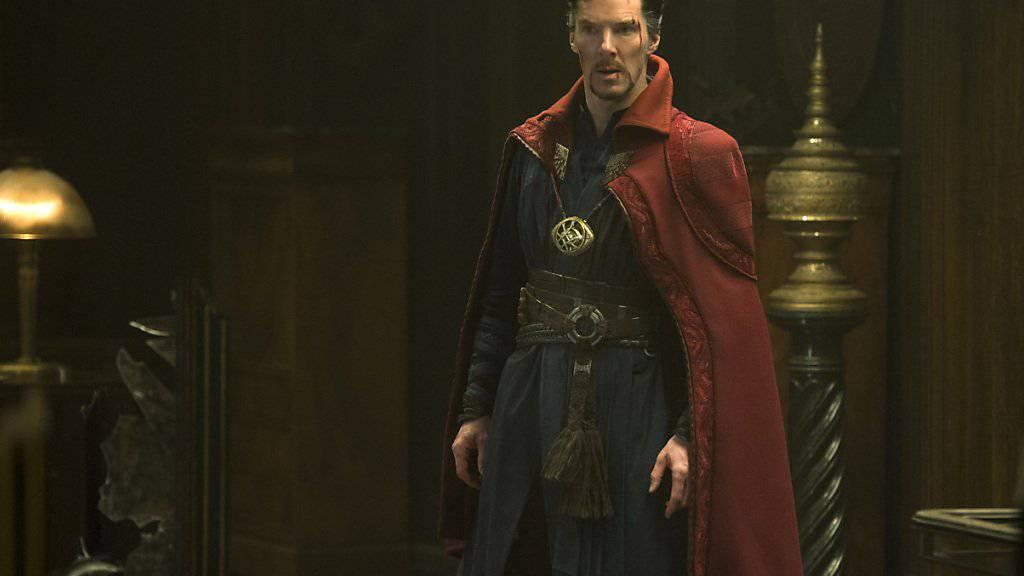 Benedict Cumberbatch lockt als «Dr. Strange» in Nordamerika die Massen in die Kinos. (Archivbild)