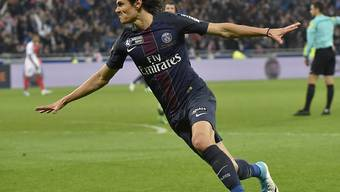 Edinson Cavani schoss für den PSG im Ligacup-Final gegen Monaco zwei Tore