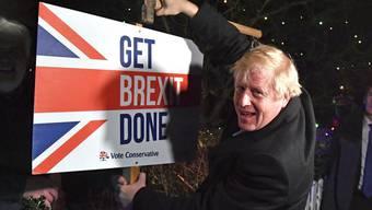 «Es war ein langer und steiniger Weg, aber das Ergebnis ist gut» – Boris Johnson ist mit dem Ergebnis zufrieden. (Bild: Keystone)