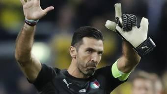 Das war im November im Stockholm: Gianluigi Buffon verabschiedet sich aus der Nati
