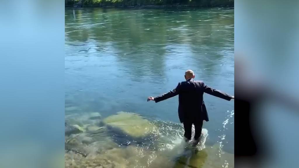 Daniel Koch geht mit einem Sprung ins kalte Wasser in den Ruhestand