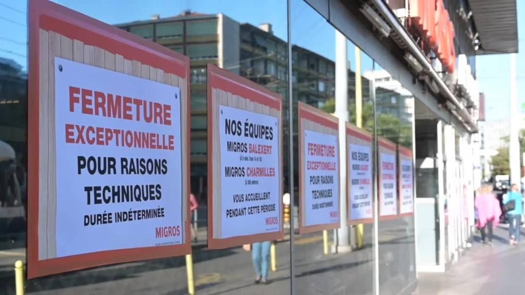 Migros, Denner und McDonald's in Genf zu - wegen Einsturzgefahr