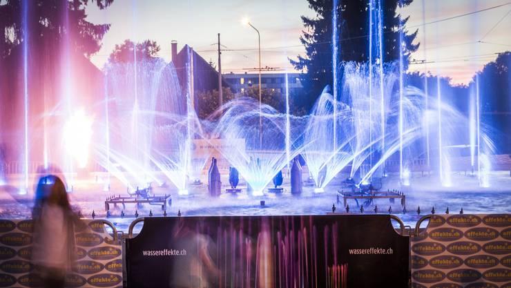 Die multimediale Wassershow ist derart beliebt, dass es auch dieses Jahr wieder eine gibt. Das Werk stammt  von Urs Habegger.