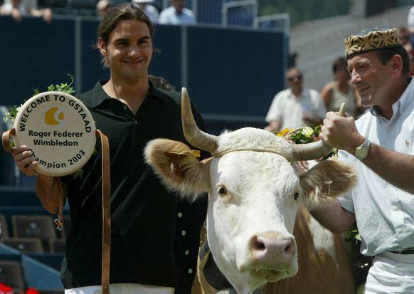 Federer 2003 mit Juliette (†) ...