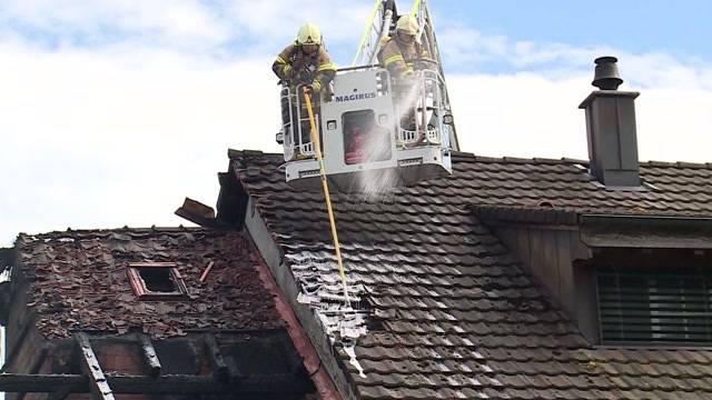 Schwerer Brand bei Bauernhof in Leuggern