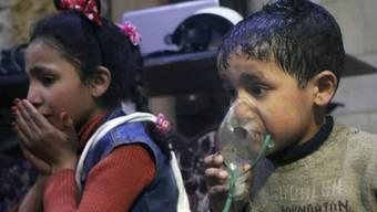Viele Kinder sind laut Hilfsorganisationen unter den Opfern des mutmasslichen Giftgasangriffs auf Douma