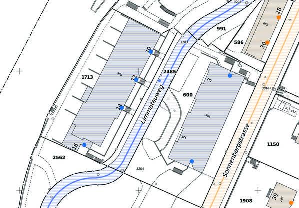 Lokalisationsplan Türen