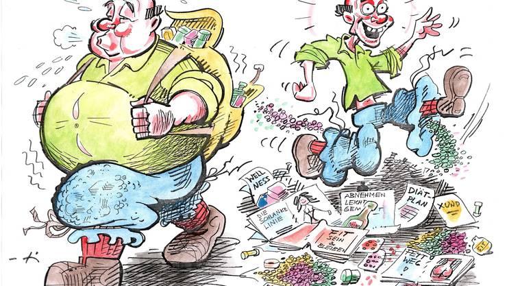 Dick oder dünn: Abnehmen ist auch eine Sache der psychologischen Einstellung.