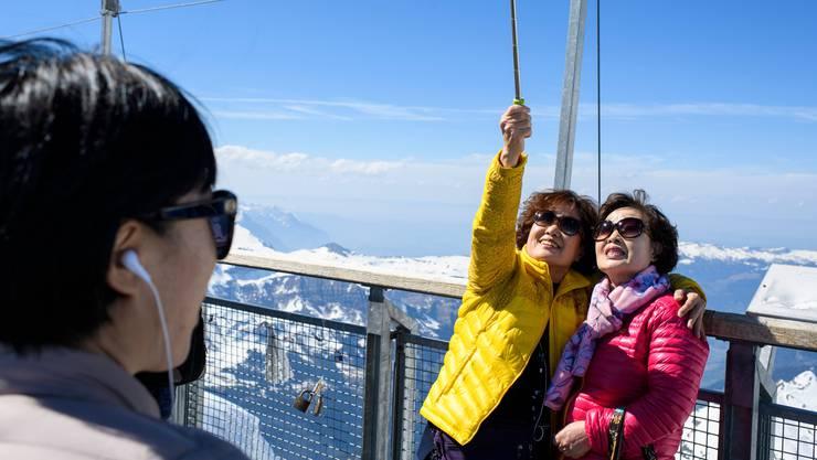 Zum hohen Besucheraufkommen auf dem Jungfraujoch trugen insbesondere asiatische Gäste bei.