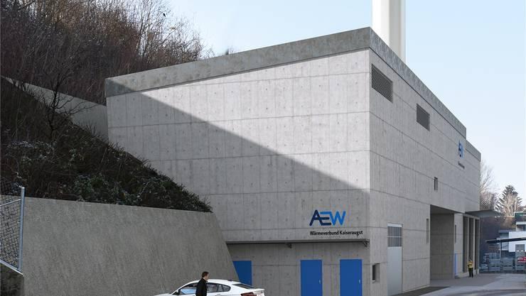 Die Heizzentrale ist an der Böschung bei der Rewag geplant. Visualisierung zvg