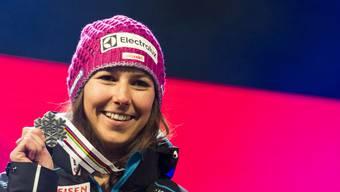 Nach Gold in der Kombination mit Silber im Slalom: Wendy Holdener