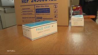 Aargau zapft Notlager an: Lieferengpässe bei Schutzmasken