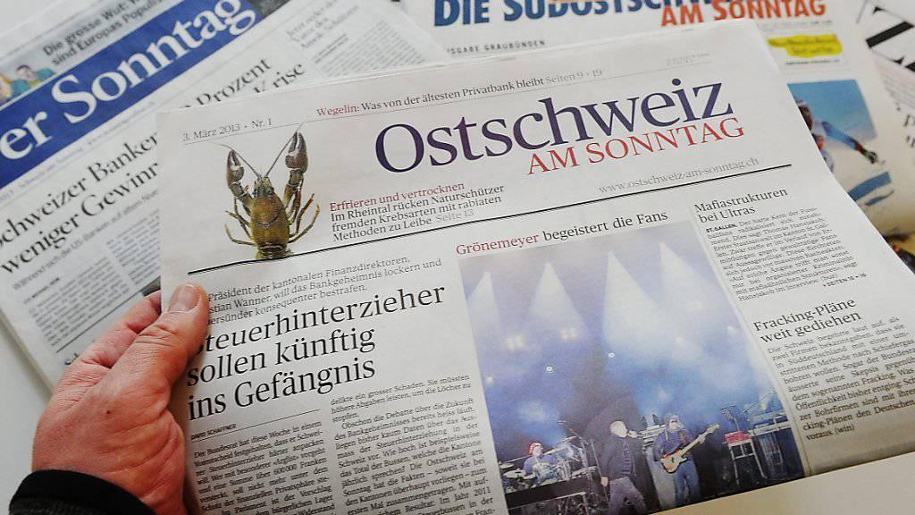 """Die am heutigen Sonntag wird auch die digitale Ausgabe der """"Ostschweiz am Sonntag"""" eingestellt. (Archivbild)"""
